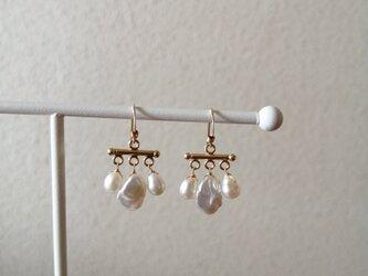 再販3回目/renewal pearl bar pierceの画像