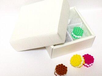 マカロンブローチ アソートBOX(4粒セット)の画像