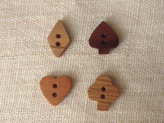 トランプボタン(4枚組)の画像