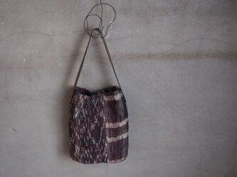 裂き織り/ジグザグシマシマ  ワンショルダーバッグ (+orimi)の画像