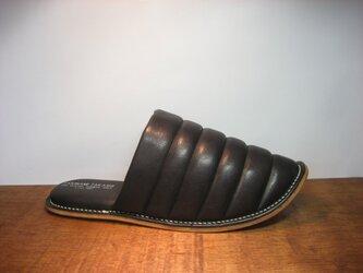 Sofa Slippers MOKO BLACK sizeLLの画像