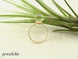 14kgf レモンクォーツのリングの画像
