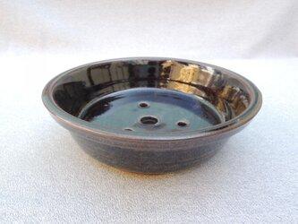 盆栽鉢 鉄釉の画像