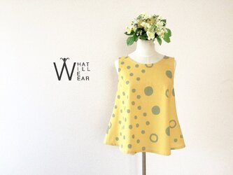 BUBBLE FLARE TOP (YELLOW)の画像