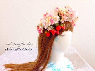 花かんむり*薔薇といちごの画像