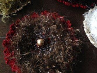 クランベリーチョコのコサージュの画像