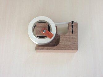 マスキングテープカッター(ストッパー、磁石付)ウォールナットの画像