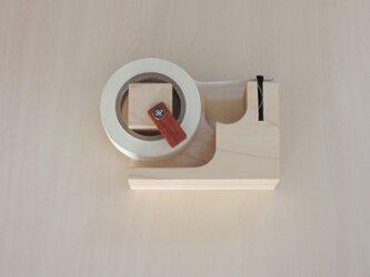 マスキングテープカッター(ストッパー、磁石付)メープルの画像