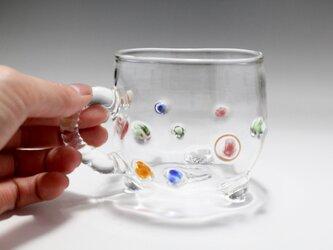 ガラスカップ (取っ手部分ねじり)の画像