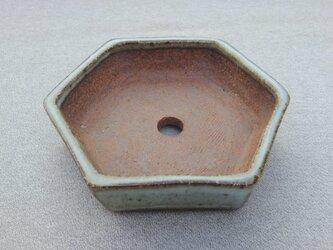 ミニ盆栽鉢 白釉の画像
