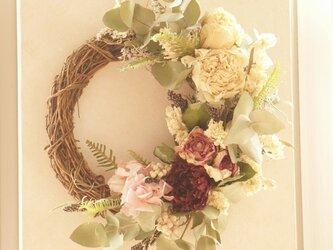 芍薬のspring wreathの画像