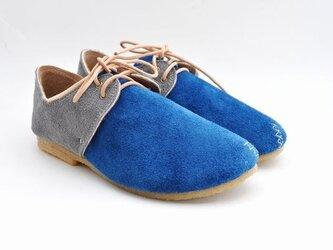 #Tokuyama Shoes:『plie lace-shoes』blue x grayの画像