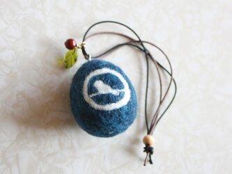 羊毛フェルト 卵形バッグチャームの画像