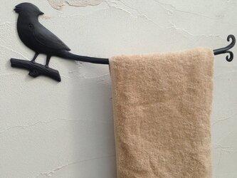 サンコウチョウのタオルハンガーの画像
