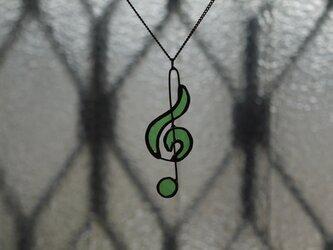 ト音記号 (緑) ネックレスの画像