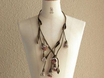 レザーネックレス_Floral chain_03の画像