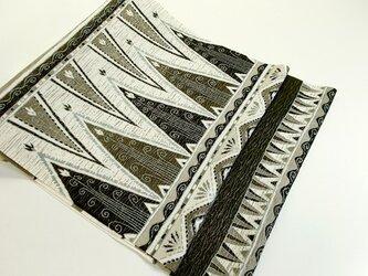 袋帯(モノトーンジャワ更紗風文様)の画像