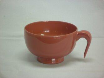 ピンク色のお椀の画像