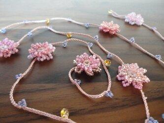 矢車菊の春色ラリエット の画像