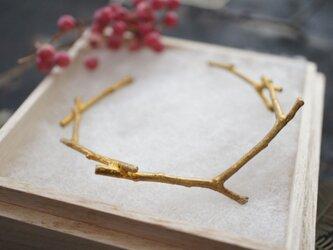 男女兼用Brass枝バングルの画像