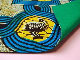 アフリカンランチョンマット(かも)の画像
