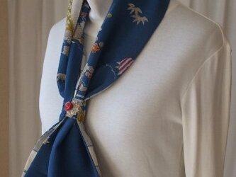 古布でストールとスヌード使い 絹の画像