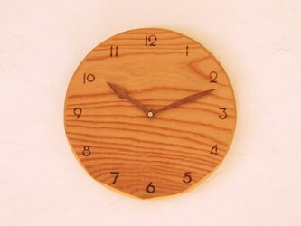 掛け時計 丸 けやき材31の画像