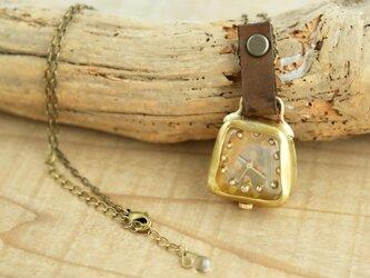 首からさげる時計 SQ dot gold YN001の画像