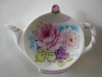薔薇のティーバッグトレイ(A)の画像