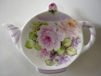 薔薇のティーバッグトレイ(B)の画像