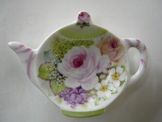 薔薇のティーバッグトレイ(C)の画像