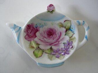 薔薇のティーバッグトレイ(E)の画像