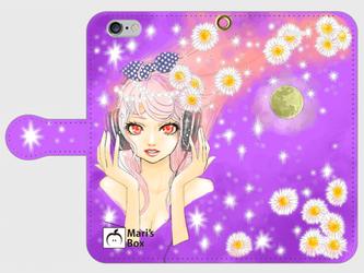【受注生産】オリジナルデザインiPhoneケース【Space Music】の画像