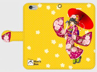 【受注生産】オリジナルデザインiPhoneケース【Kimono Girl】の画像