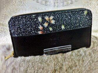 ラウンドジップ長財布「桜」の画像