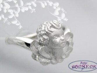 ラッキーモティーフ 天使 エンジェル リング Silver 925 サイズ#7~#18の画像