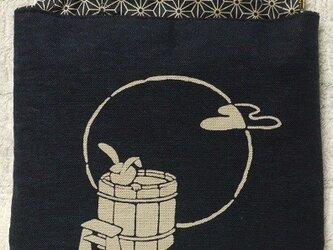 バネ口金3ーうさぎ柄の小物入れの画像