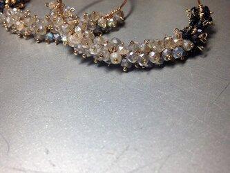 LABRADORITE*spinel/14kgf.earringの画像