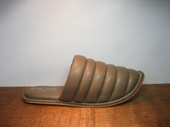 Sofa Slippers MOKO BROWN sizeLLの画像