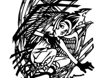 メッセージ切り絵 〜虎落笛〜の画像