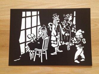 切り絵ポスター「コッペリウスの部屋」の画像