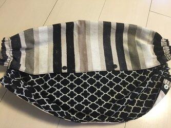 エルゴ・抱っこ紐カバー(黒グラデ×黒)の画像