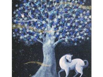 選べるポストカード(4枚)NO.9「蒼き花咲く樹の下で」の画像
