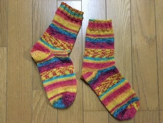 手編み靴下(Opal 星の王子さま 7766)の画像