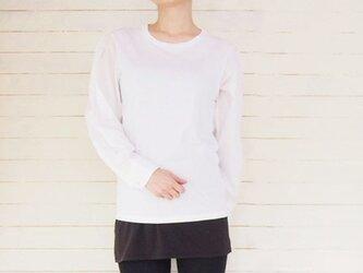 ホワイト シャツリメイク Tシャツ メンズサイズの画像