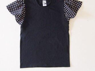 black:dotsバタフライスリーブ Tシャツの画像