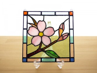 ステンドグラス ミニパネル さくら 15cmの画像