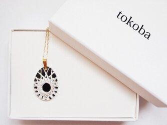 tokoba クリスタルネックレス D-spider web (black)の画像