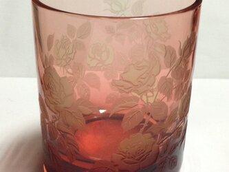 金赤のバラオールドグラスの画像