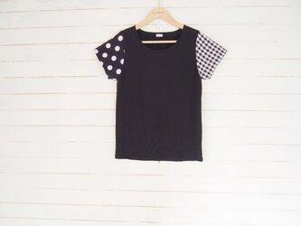 black:dotscheck リメイクTシャツの画像